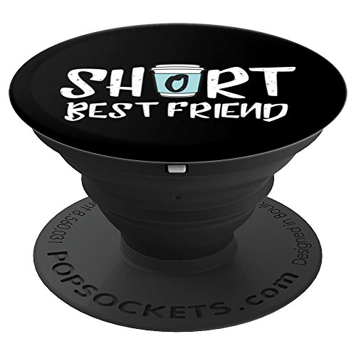 Short Best Friend - Matching Coffee Cup on Black Background - PopSockets Grip and Stand for Phones and Tablets (Tall And Short Best Friends)