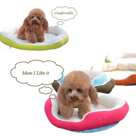 Amazon.com : BOSUN(TM) Candy Color Round Dog Bed Soft Fleece Puppy Kennel Mat Detachable Dual Using Pet Dog Cushion Cama Perro : Pet Supplies