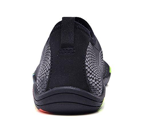 Schuhe Jungen Yoga schwarz für Trocknend Eagsouni N70 Badeschuhe Damen Wasserdicht Herren Barfuß Barfußschuhe Kinder Aquaschuhe Schwimmschuhe Wasserschuhe Schnell Mädchen Strandschuhe Wasser wfP7TwOq
