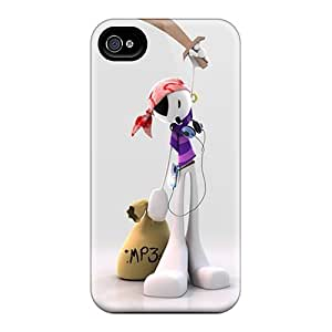 Slim Fit Tpu Protector Shock Absorbent Bumper 3d Fashion Pirate Case For Iphone 4/4s