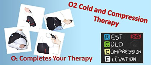 O2 Cold Therapy Knee Wrap with Ice Pack and Air Compression Wrap, Universal by O2 (Image #2)