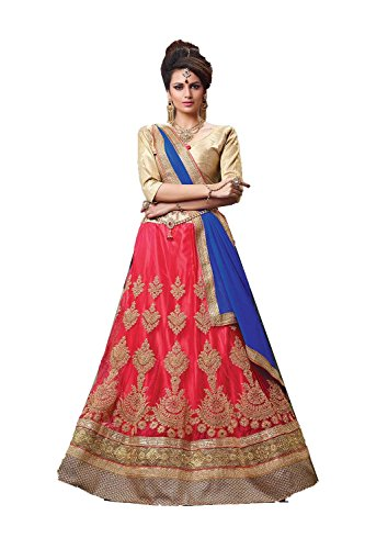 PCC Indian Women Designer Wedding Red Lehenga Choli Fabz-2064