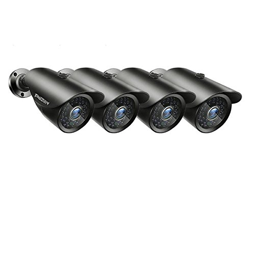 TMEZON 4 Pack AHD Camera 1080P 2.0 Megapixel 2000TVL Night Vision 3.6mm Outdoor Indoor 42 IR LEDs Day Night Weatherproof Color Camera