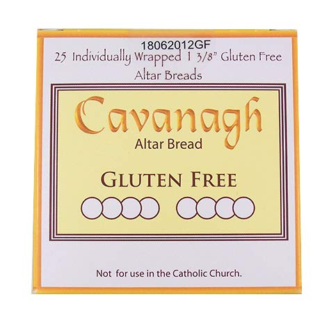 Gluten Free 1 3/8'' Diameter (35mm) Altar Communion Bread 25 Count Boxed Individually Wrapped by Cavanagh Company