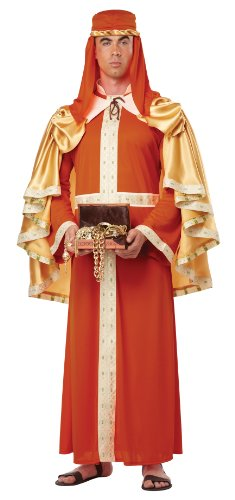 India Costume For Male (California Costumes Men's Gaspar Of India Adult, Orange, Medium)