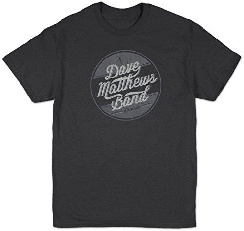 HIFI Dave Matthews Band Men's Circle Logo Slim-Fit T-Shirt Charcoal (Band Logo Shirt)