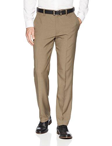 Mens Formal Pants - Franklin Tailored Men's Expandable Waist Classic-Fit Dress Pants, -brown, 36W x 32L