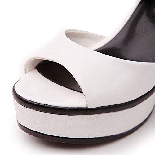 Mikrokuituliina Adee Valikoituja Valkoinen Toe Sandaalit Väri Open Hyvät wpxqpOArBX