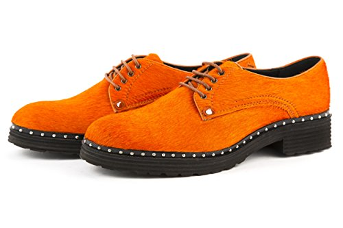 Melvin & Hamilton - Zapatos de cordones de Piel para mujer naranja naranja 37