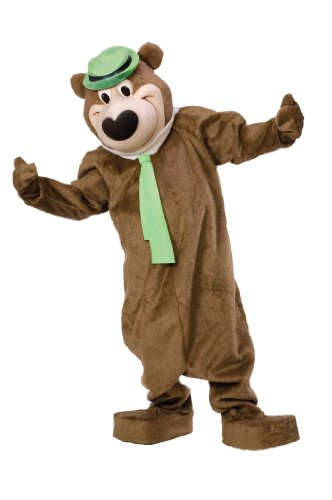 [Yogi Bear Mascot Costume, Brown, Standard] (Bear Head Costume Amazon)