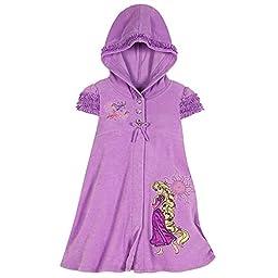 Disney Store Rapunzel Hooded Swimsuit Cover Up Swimwear Size XXS 2/3