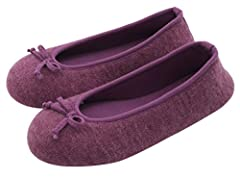 These cute HomeTop Women's Ballerina Slippers envelop your feet in soft knits, and cozy cushioning may have you saying 'Oops, I wore them all day long!' You will not take them off because: - Very adorable appearance let them become the pretti...
