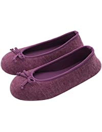 Women s Elegant Cashmere Knitted Memory Foam Indoor Ballerina House Slippers  Shoes eae1417f6a61
