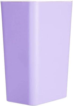 DASJZ-1 Pedal Interiores Papeleras 8L plástico Papelera - Oficinas Bote de Basura for el jardín de la Escuela de Cocina (Color : Purple): Amazon.es: Hogar