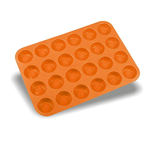 Cupcake Decorating Tools,Gillberry Mini Muffin Silicone Soap Cookies Cupcake Bakeware Pan Tray Mould-24 Cavity -