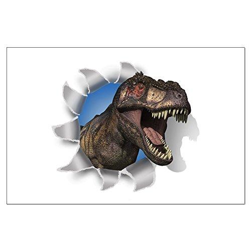 Large Poster Roaring T-Rex Dinosaur