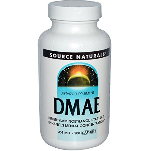 Dmae Capsules, 200 Caps by Source Naturals (Pack of 6)