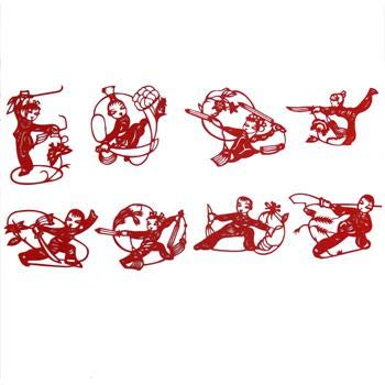 ZAMTAC Zodiac Paper - Cut Gifts with Chinese Characteristics Foreigners Small Handicrafts Paper Cut Handmade Home Wedding Decoration - (Color: Wushu) by ZAMTAC