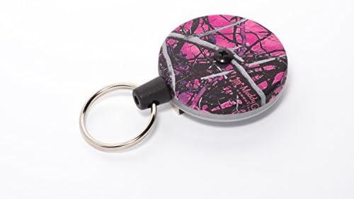Key-Bak #485B-HDK  Retractable Key Reel with Kevlar Cord /& Belt Clip USA Made