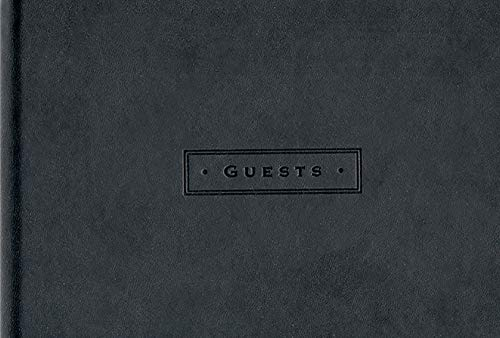 Classic Black Guest Book Hardcover – July 20, 2010