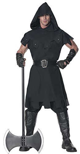 UHC Men's Executioner Medieval Warrior Renaissance Theme Party Halloween Costume, STD (Renaissance Halloween Costume)