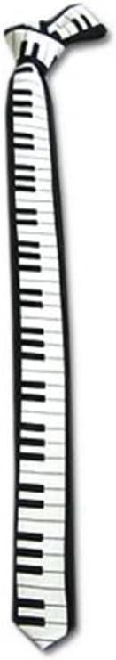 2x Black /& White Piano Keyboard Keys Necktie Tie New