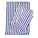 Blue Candy Stripe Paper Bags - 5