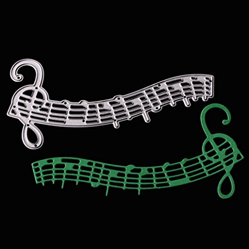 Die Cuts Embossing (Residen Dies for Die Cutting- DIY Album Paper Card Craft Embossing Die Cut Tools(G:Music Note curve))
