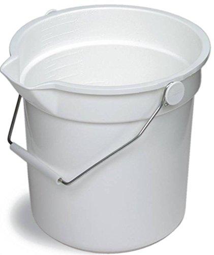 Continental Huskee Plastic White Bucket, 10 Quart -- 12 per case.