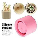 Silicone Plant Pot Mold,4.5 Inch Succulent Plant