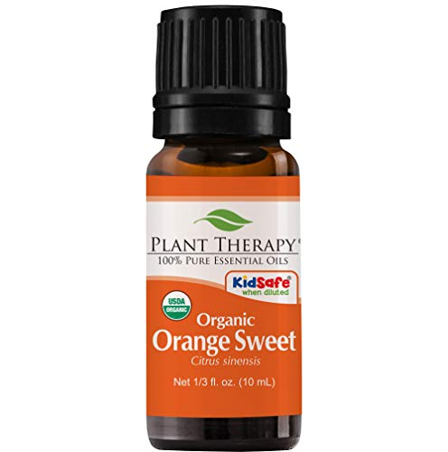 Plant Therapy Orange Sweet Organic Essential Oil | 100% Pure, USDA Certified Organic, Undiluted, Natural Aromatherapy, Therapeutic Grade | 10 milliliter (⅓ ()