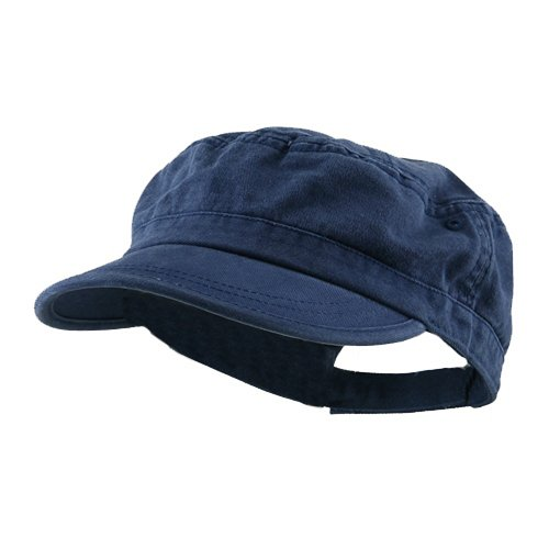 e4Hats.com Enzyme Regular Solid Army Caps-Navy
