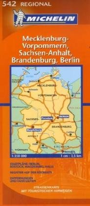 Mecklenburg-Vorpommern, Sachsen-Anhalt, Brandenburg, Berlin (Michelin Regional Maps) (German Edition)