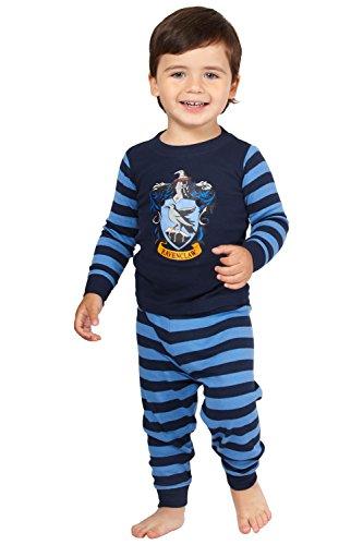 HARRY POTTER 'Ravenclaw House Crest' Cotton Baby Pajama Gift Set, Ravenclaw, 24MO Blue ()
