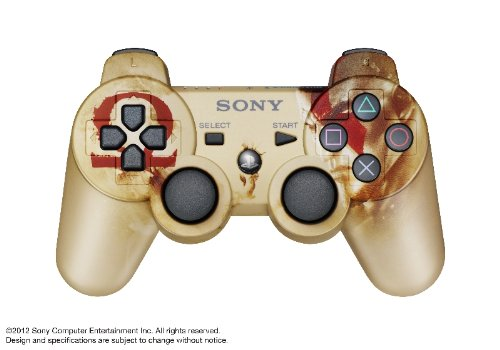 Ps3 Dual Shock Controller Review - Playstation 3 DualShock Gold God of War Ascension Controller