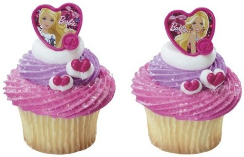 24 ct - Barbie Fashion Heart Cupcake Rings