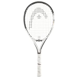 Head YouTek Three Star - Raqueta de tenis (avanzado, G2), color gris, blanco y negro