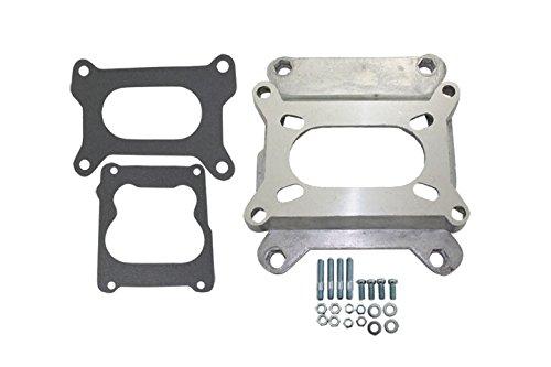 Mota Performance A40208 Carburetor Adapter Kit Open Plenum - Adapts any Holley or Rochester 2 Barrel Carburetor to any Quadrajet Spreadbore Manifold