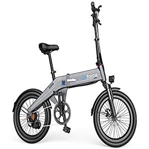 """G-Force Electric Bike T31,20"""" 3.0 Fat Tire Folding Shimano 7 Speeds,350W Brushless Motor, 48V 10.4A High-Capacity Battery,Max Speed 20MPH, Max Range 30 Miles, Electric Bike for Adults."""