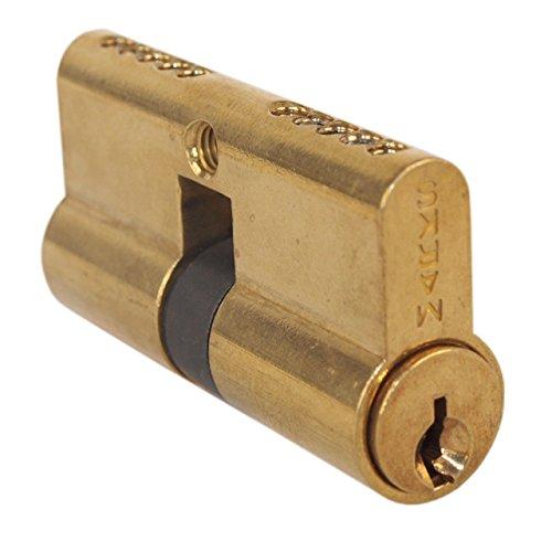 Marks #2622 Polished Brass US3 Euro Profile Double Cylinder