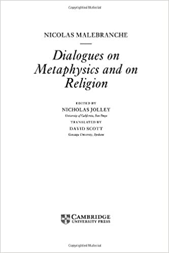 Book Malebranche: Dialogues on Metaphysics and on Religion (Cambridge Texts in the History of Philosophy)