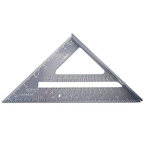 Aluminum 7 Aluminum Roofing Square Scale Speed Carpenter Framing Measuring Tool