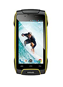 "Evolveo StrongPhone SGP-Q8-LTE-Y SIM doble 4G 16GB Negro, Amarillo - Smartphone (11,4 cm (4.5""), 16 GB, 13 MP, Android, 4.4.4 Kit Kat, Negro, Amarillo)"