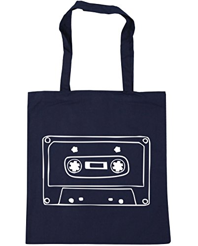 10 Beach Shopping HippoWarehouse French Gym litres Tote Mixtape Bag illustration x38cm Navy 42cm wCw4zUxq