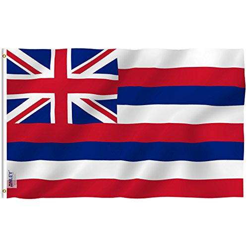 Anley Fly Breeze 3x5 Feet Hawaii State Flag - Vivid Color and UV Fade Resistant - Canvas Header and Double Stitched - Hawaiian HI Flags Polyester with Brass Grommets 3 X 5 Ft
