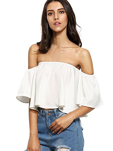 SheIn Womens Ruffle Shoulder Sleeve product image