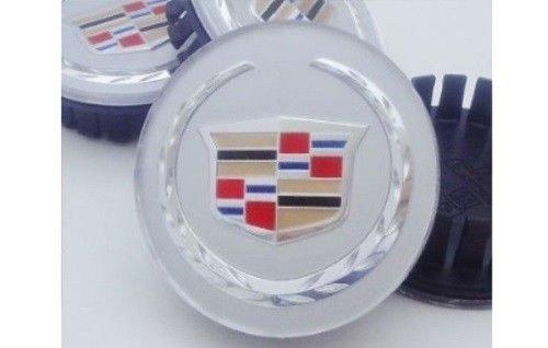 CADILLAC CTS STS DEVILLE DTS XTS XLR ATS CHROME CENTER CAPS 2 (Cadillac Deville Center Caps)