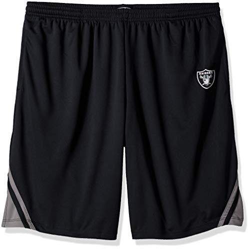 (OTS NFL Oakland Raiders Male NFL Poly Dot Athletic Short, Jet Black,)