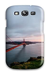 QpCHOne3869tpQsY Tpu Phone Case With Fashionable Look For Galaxy S3 - Golden Gate Bridge