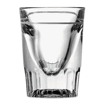Anchor Hocking 5281/93 2-1/4'' Diameter x 2-7/8'' Height, 1.5 - 7/8 oz Line Whiskey Shooter Glass (Case of 48) by Anchor Hocking